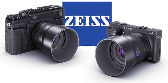 Carl Zeiss Sony NEX s Fuji X rendszerekhez