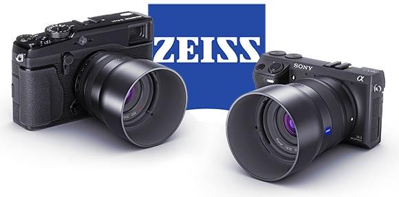 Carl Zeiss Sony NEX és Fuji X rendszerekhez